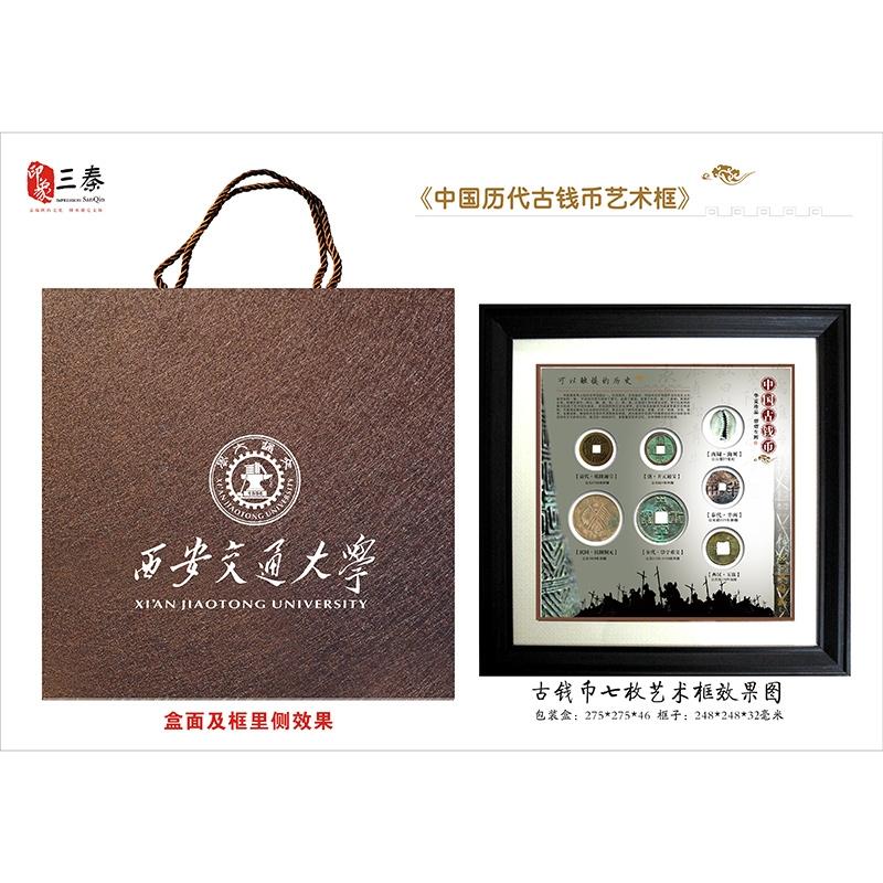 大历代7枚钱币框-19年交大定制